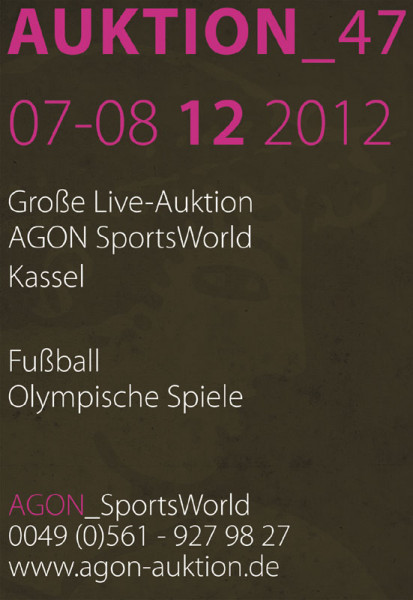 47. AGON Auktion: Auktions-Katalog: SportMemorabilia Live Kassel