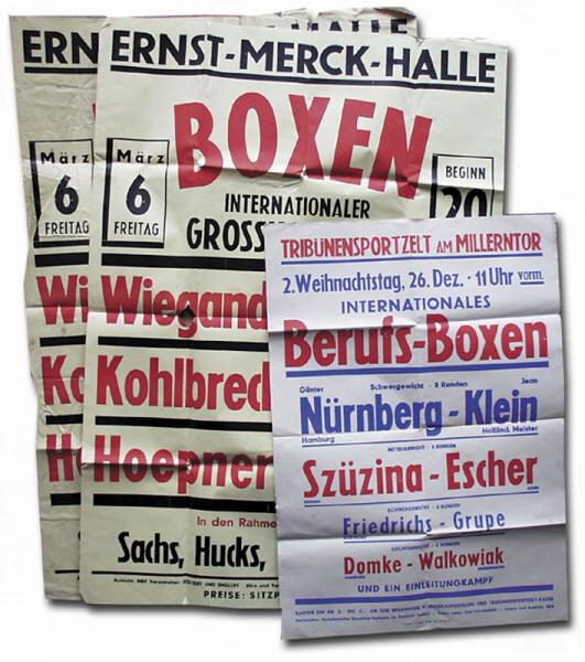 Boxing Poster 1953 Guenter Nuernberg