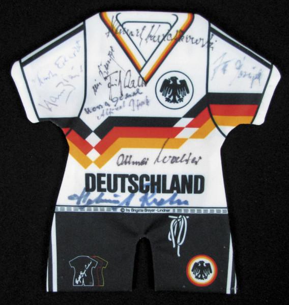 DFB-Mini-Trikot 1954: World Cup 1954 Mini Shirt Germany Autographed