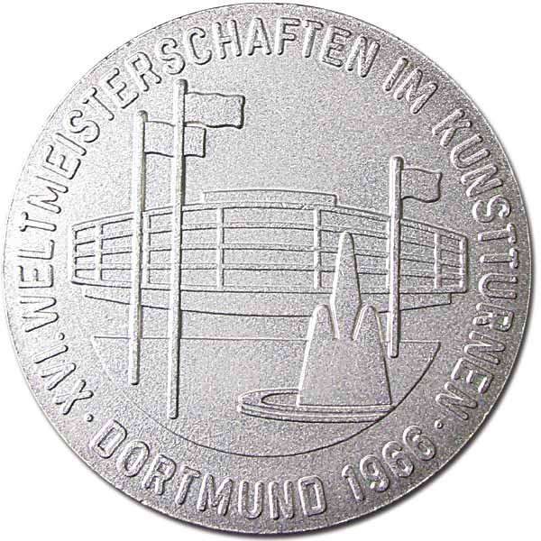 Winner medal:Gymnastics World Championships 1966