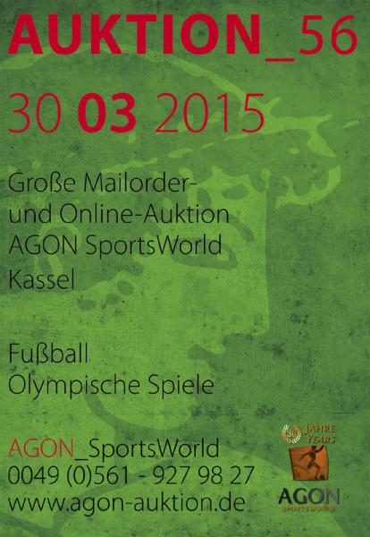 56. AGON Auktion: Auktions-Katalog: SportMemorabilia OnLive in Kassel