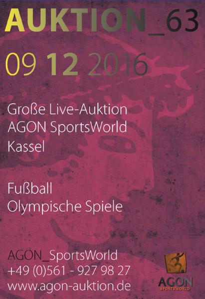 63. AGON Auktion: Auktions-Katalog: SportMemorabilia Live in Kassel