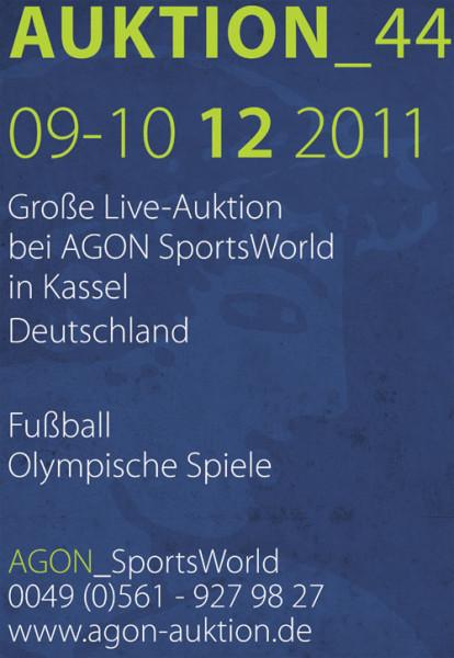 44. AGON Auktion: Auktions-Katalog: SportMemorabilia Live Kassel