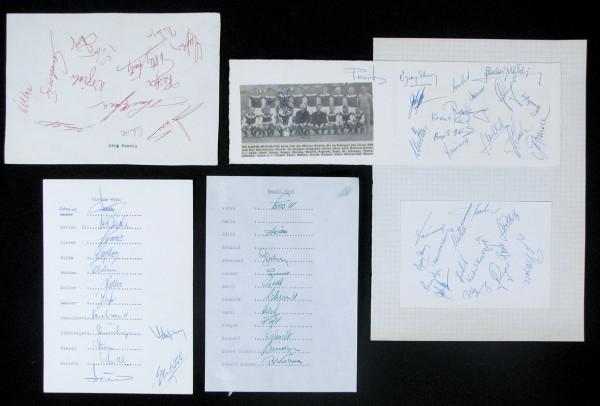 Österereich 1962: Autogrammsammlung Österreich 1962 mit 1 Sammlerblä