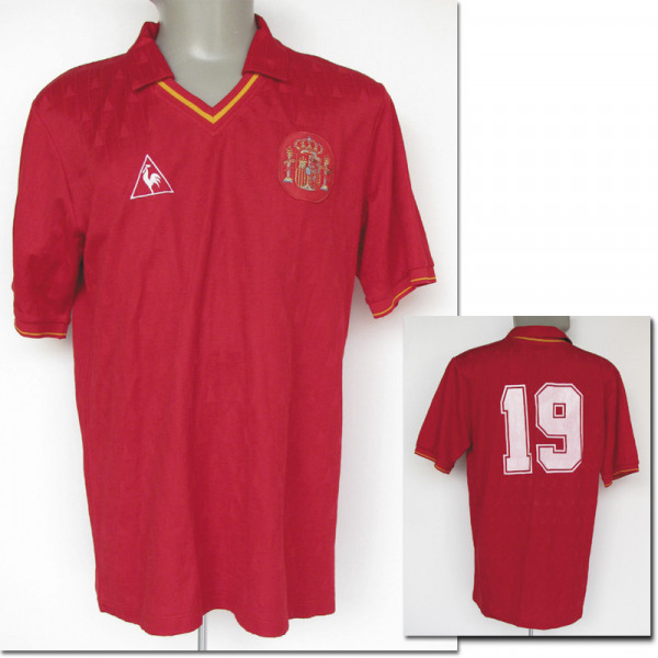 UEFA EURO 1988 matchworn football shirt Spain