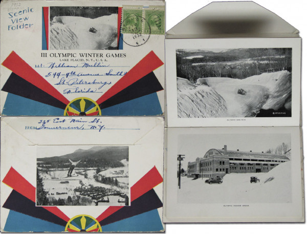 Scenic View Folder. III Olympic Winter Games, Briefbuch 1932