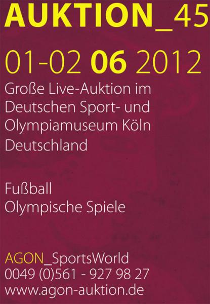 45. AGON Auktion: Auktions-Katalog: SportMemorabilia Live Köln