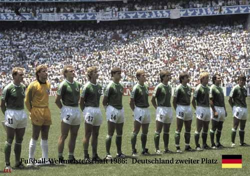 Germany 2nd place World Cup 1986