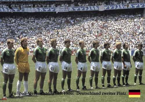 Deutschland 2. Platz WM 1986