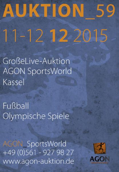 59. AGON Auktion: Auktions-Katalog: SportMemorabilia Live in Kassel