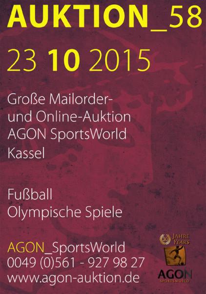 58. AGON Auktion: Auktions-Katalog: SportMemorabilia Live in Kassel
