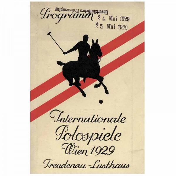 Internationale Polospiele 1929, Polo-Programm 1929