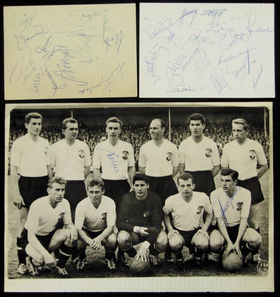 Österreich 1958-61: S/W-Pressefoto von der Mannschaft von Österreich b