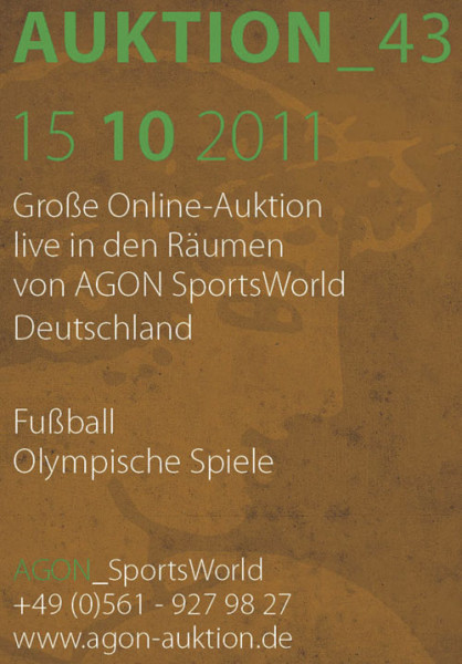 43. AGON Auktion: Auktions-Katalog: SportMemorabilia Live Kassel