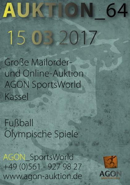 64. AGON Auktion.: Auktions-Katalog: SportMemorabilia OnLive in Kassel