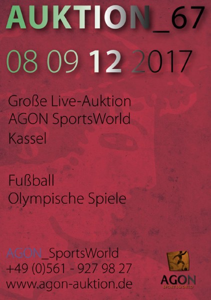 67. AGON Auktion: Auktions-Katalog: 67th AGON Live Auction Catalogue.