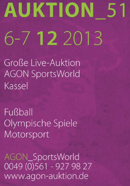 51. AGON Auktion: Auktions-Katalog: SportMemorabilia Live in Kassel