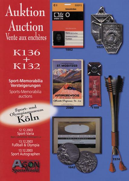 16. und 17. AGON Auktion: Auktions-Katalog: SportMemorabilia Autograph