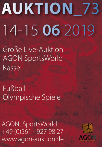 73. AGON Auktion: Auktions-Katalog: SportMemorabilia Live in Kassel