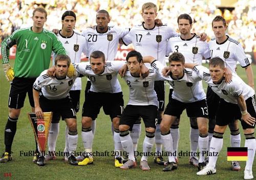 Germany 3rd place World Cup 2010
