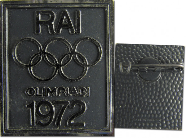 Olympic Games 1972 Pin badge Italy Broadcasting