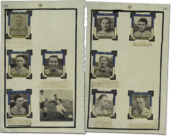 Hartha BC - 1939: Blancobelege mit 7 original Signaturen der Spieler