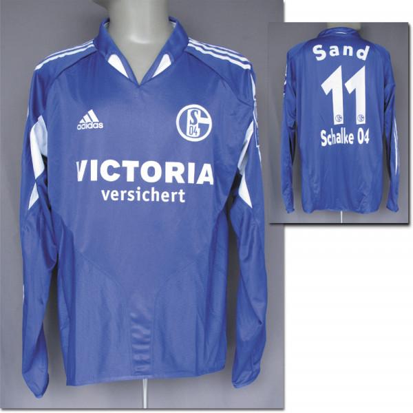match worn football shirt Schalke 04 2004/05