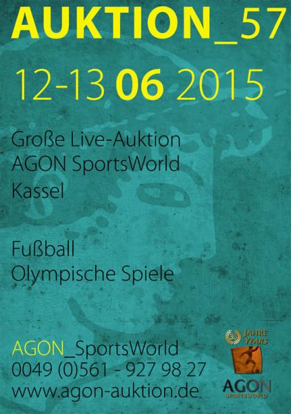 57. AGON Auktion: Auktions-Katalog: SportMemorabilia Live in Kassel