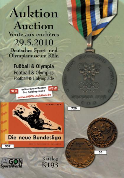 38. AGON Auktion: Auktions-Katalog: SportMemorabilia Live Köln