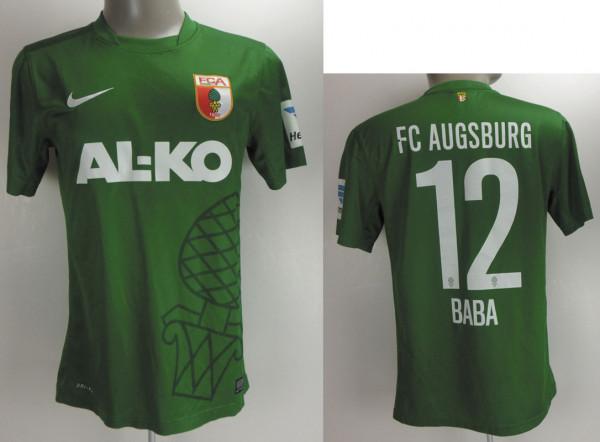 match worn football shirt FC Augsburg 2014/15